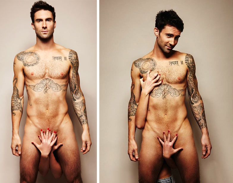 Adam Levine, miembro de Maroon 5, ha posado totalmente desnudo para el
